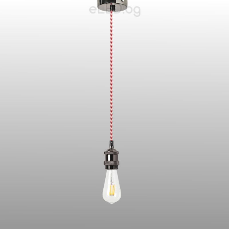Vintage ceiling lamp fixy 1xe27 230v black chrome eled vintage ceiling lamp fixy 1xe27 230v black chrome mozeypictures Image collections
