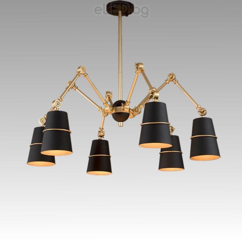 spider light pendant lights chandelier edison product retro