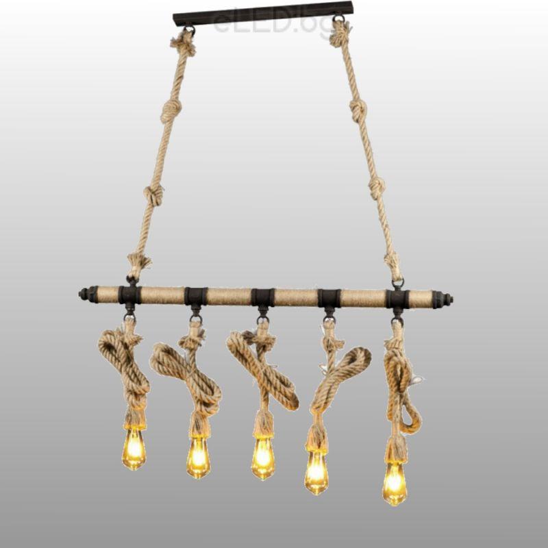 Vintage chandelier rope 2xe27 230v metal black rope eled vintage chandelier rope 2xe27 230v metal black rope mozeypictures Choice Image