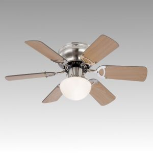 FAN FABIOLA 1xR7s 2xE14 230V body: nickel matt / glass; blades: MDF wenge