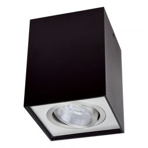 Surface Downlight TOLEDO DL700 BK Cylinder, Black, Chrome