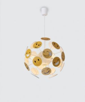 Hanging Lamp FUNNY 4xE14 230V White / Yelloy