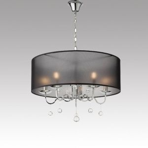 Hanging Ceiling Lamp BELLARIA 5xE14 Metal / Crystal / Fabric